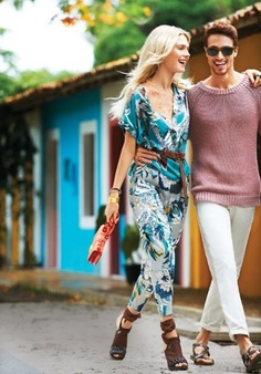 Dressed-down style has never looked better than on the streets of tiny Trancoso, where fashion heavyweights champion casual chic.  Her top, pants, and watch, all by Hermès
