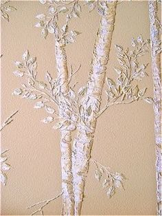 Tutorial - How to create these stenciled raised plaster trees.