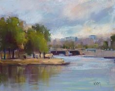 "Daily Paintworks - ""Painting Paris: Impressions of France"" - Original Fine Art for Sale - © Karen Margulis"
