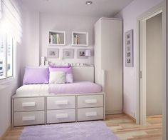 Image from http://fazook.com/wp-content/uploads/2014/11/bedroom-accesories-decors-interesting-purple-and-white-patterns-teenage-girl-bedroom-decorating-ideas-with-single-bed-storage-also-small-wardrobe-also-purple-rug-as-decorate-in-small-space-cool-600x499.jpg.