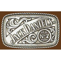 Mens Ladies Jack Daniels Square Pewter Belt Buckle G-5007 | Buffalo Trader Online