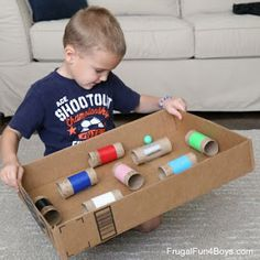 Make a Ball Maze Game - Great for hand-eye coordination! projects for boys Make a Ball Maze Hand-Eye Coordination Game - Frugal Fun For Boys and Girls Fun Activities To Do, Toddler Learning Activities, Preschool Activities, Kindergarten Learning, Diy Crafts For Kids, Projects For Kids, Maze Game, Diy Toys, Recycled Materials