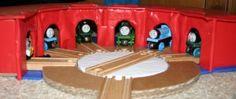 Cardboard train shed