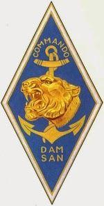 insigne du commando dam san (frabication drago) en algerie