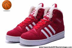 Cheap Discount Adidas X Jeremy Scott Big Tongue Anti Fur Winter Shoes Red Sports Shoes Shop