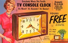 Maik Remmers saved to Ads for different things. Vintage Advertisements, Vintage Ads, Vintage Pictures, Funny Pictures, Electric Clock, Mantel Clocks, Cool Clocks, Wish You Are Here, The Old Days