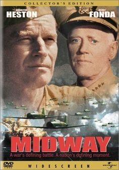 The 1942 battle of Midway was the turning point of the War in the Pacific; the Japanese invasion fleet was destroyed, and America's string of humiliating defeats was finally broken.    ILLUSTRATED HISTORY: RELIVE THE TIMES: Images Of War, History , WW2: Great War Movies: 'MIDWAY' (WW2) 1976