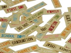 Simple Stories Labels - Words - Free Downloads