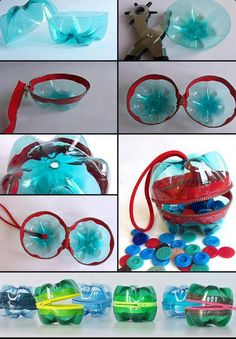 Recycled pop bottles, great use for all sort of goodies