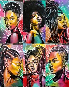 Sexy Black Art, Black Love Art, Black Girl Art, Black Girl Magic, Art Girl, Black Art Painting, Black Artwork, African American Art, African Art