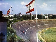 57 years ago today, pole man Tony Brooks led a Ferrari 1-2-3 in the German GP at the daunting AVUS circuit