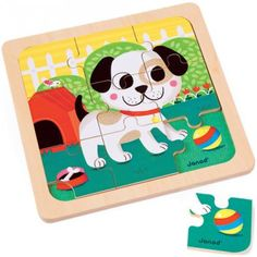 Titus the Dog 9pc Wooden Puzzle