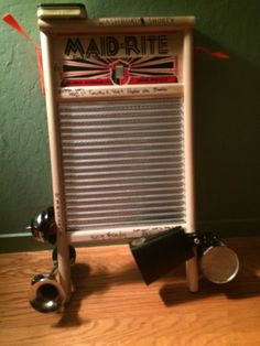 A washboard turned into an instrument,