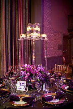 New York wedding photographer Sofia Negron wedding at the Scranton Cultural Center Designed by Lindsay Landman, Purple