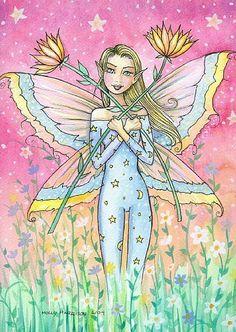 Fairy Art: A Vision in a Dream by Artist Molly Harrison