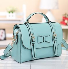 Vintage Mint Green Bowknot Messenger&Shoulder Bag|Shoulder Bags - Fashion Bags|ByGoods.com