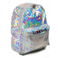 HOLOGRAPHIC BACKPACK ($72) ❤ liked on Polyvore featuring bags, backpacks, backpacks bags, strap backpack, knapsack bags, jelly bag and hologram bag