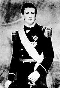 D Luís Augusto Maria Eudes de Saxe-Coburgo-Gota (1845-1907)   Alemão, Duque de Saxe com a farda da   Marinha do Brasil