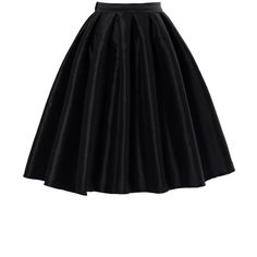 Chicwish Black A-line Midi Skirt (115 RON) ❤ liked on Polyvore featuring skirts, bottoms, saias, black, a line midi skirt, a line skirt, high waisted skirts, knee length a line skirt and high waisted knee length skirt