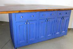 Barn Wood Custom Blue Kitchen Island From Salvaged Barn Board,