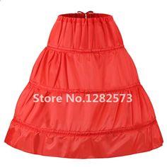 Na skladě Tri obruče Jedna vrstva Děti Petticoat Kid Crinoline pro  květinové šaty Bílá Černá Červená Malá Dívka Petticoat c888a1c189