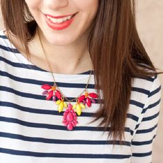 How to turn forgotten earrings into a fun statement necklace in less than 10 minutes!