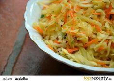Orientální zelný salát recept - TopRecepty.cz Cabbage, Vegetables, Cooking, Recipes, Fitness, Diet, Fine Dining, Salads, Kitchen