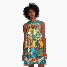I Dress, Chiffon Tops, Classic T Shirts, Art Prints, Printed, Awesome, Cute, Cotton, Dresses