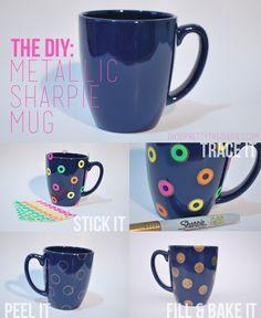 Metallic Sharpie Mug DIY