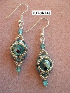 Halo Earring Tutorial PDF Pattern (INSTANT DOWNLOAD)