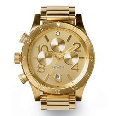#Nixon: Built For Power. Introducing The 48-20 Chrono in All Gold, New from Nixon
