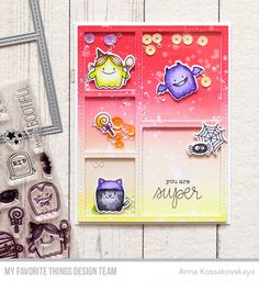 Fab-BOO-lous Friends Stamp Set and Die-namics, Stitched Collage Frame Die-namics, Happy Haunting Stamp Set - Anna Kossakovskaya #mftstamps