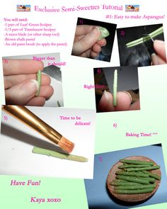 Exclusive Semi-Sweeties Tutorial: Asparagus by kayanah.deviantart.com on @deviantART