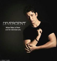 Miles Teller in divergent Peter Divergent, Divergent Trilogy, Divergent Insurgent Allegiant, Divergent Characters, Divergent Jokes, Divergent Fandom, Erudite, Veronica Roth, Book Series