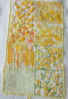 Love this sampler in yellows - very springy and fun!