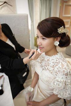 ホテルモントレ銀座|結婚式場写真「メイクシーン」 【みんなのウェディング】