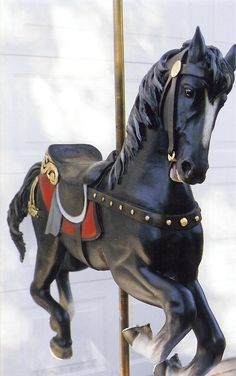 Black carousel horse by M.J.Y.