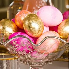 How To Make Gold Leaf Gilded Eggs | Instead of using traditional colors, give your Easter eggs an extra sparkle with gold leaf. We'll show you how to create the perfect egg, step-by-step.