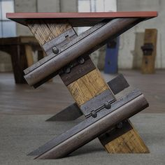 sondermillReclaimed railway ties make for the perfect one of a kind desk. Choose from a copper, glass or custom #graffiti steel top, and you'll instantly become the talk of the office. Available on sondermill.com. #liveoriginally #sondermill