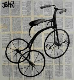"Saatchi Art Artist Loui Jover; Drawing, ""tricycle"" #art"