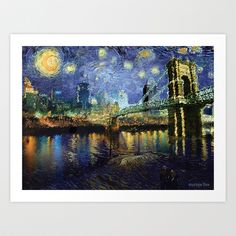 Buy Van Gogh Comes to Cincinnati by Stacey Cat as a high quality Art Print. Worldwide shipping available at Society6.com. Just one of millions of products…
