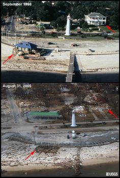 After Hurricane Katrina | before and after ...Biloxi Mississippi