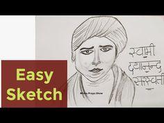 Swami Dayananda Saraswati Pencil Sketch Step by Step | How to Draw Swami Dayananda Saraswati easy - YouTube Dayananda Saraswati, Drawing Competition, Reform Movement, Drawings, Sketches, Drawing, Portrait, Draw, Grimm