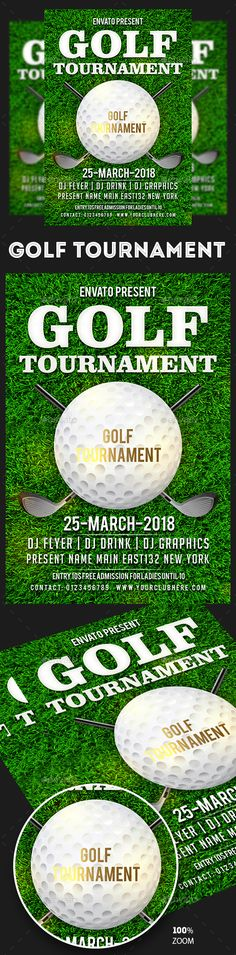 Golf Tournament Flyer Template - No Model Required Download The