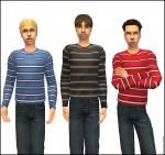 5 Stripey Sweaters, 5 Not-Stripey Sweaters, and a pair of Jeans