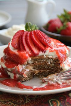 Strawberry Tiramisu Pancakes