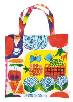 To know more about marimekko Tote Bag KESATORI, visit Sumally, a social network that gathers together all the wanted things in the world! Featuring over other marimekko items too! Surface Design, Fabric Patterns, Print Patterns, Floral Patterns, Marimekko Bag, Estilo Cool, Textile Design, Finland, Purses And Bags