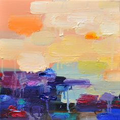 such pretty color... pretty abstract oil paintings from Yangyang Pan