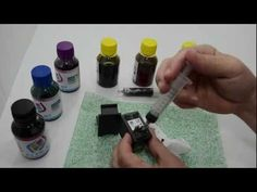 Como recarregar cartucho HP preto, fácil, rápido, simples e muito barato. - YouTube
