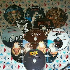 My DVD collections! Dream Theater, Black Sabbath, Metallica, Cocktails, Music Instruments, Collections, Concept, Nails, Instagram Posts